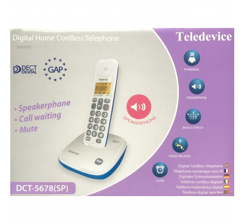 Teledevice DECT 無線電話 [DCT-5678]